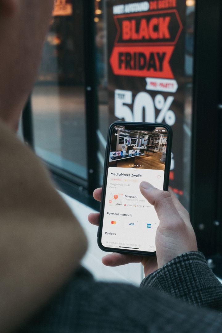 black friday in mobile device